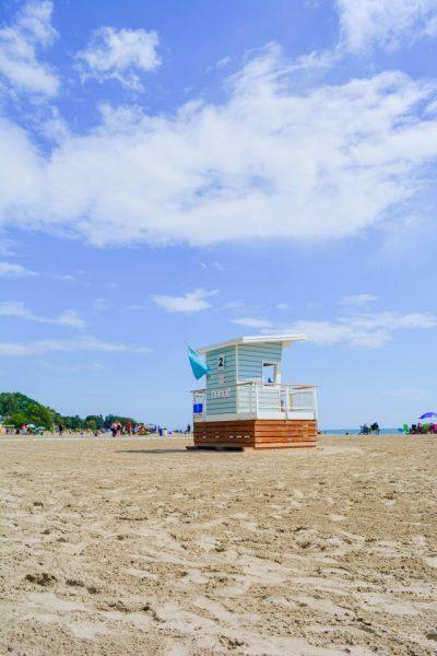 Retro Lifeguard Tower Cobourg Beach