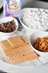 sheet pan smores ingredients