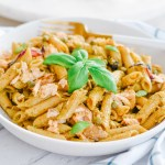 Simple Salmon Pesto Pasta Recipe