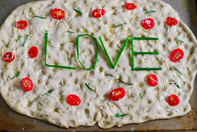 Pizza Bianca LOVE word art ingredients | HouseofKerrs.com