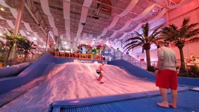 Dad's still got it! ;) Flo-rider Surfing simulator at Bora Parc is a must!
