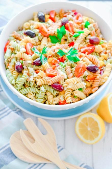 Greek Pasta Salad | La Cucina di Kerrs