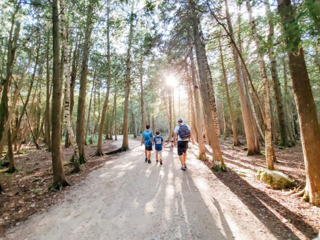 Family Hike through Bruce Peninsula National Park