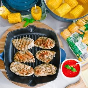 Grilled Chicken Parmesan Sandwiches