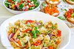 Rainbow Crostini Board, Pasta Primavera & Roasted Vegetable Spring Salad