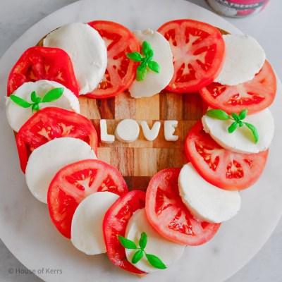 Caprese Salad D'amore Heart Love Board