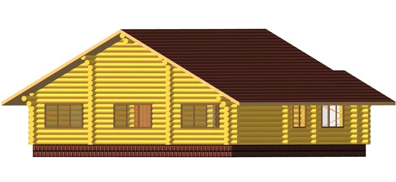 къща от цилиндровани трупи