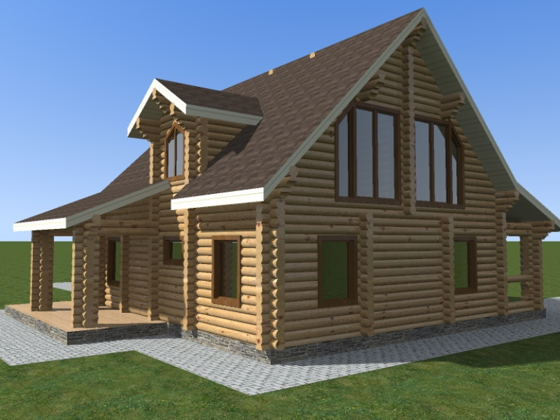дървена къща от трупи