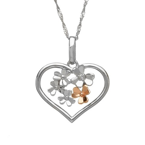 White Gold Open Heart Pendant