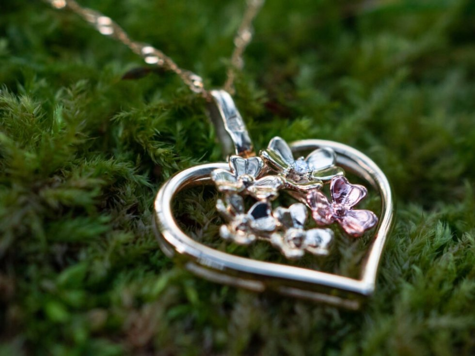 shamrock heart pendant