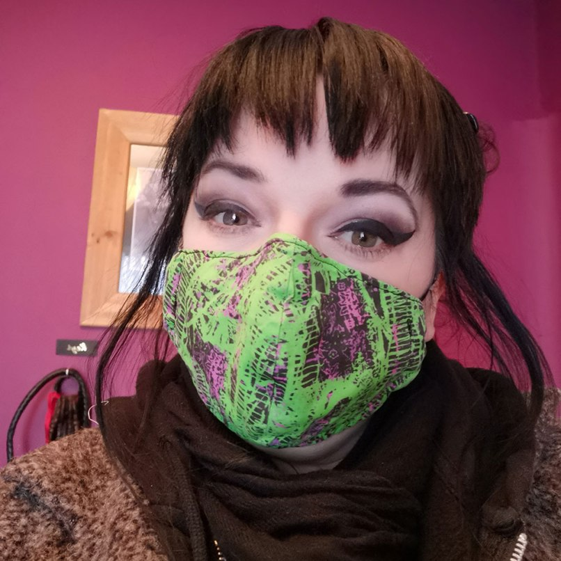 Punk'd Mary Mask Modelled by Me