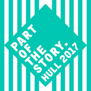 A Hull 2017 Part of The Story logo in turquoise blue.