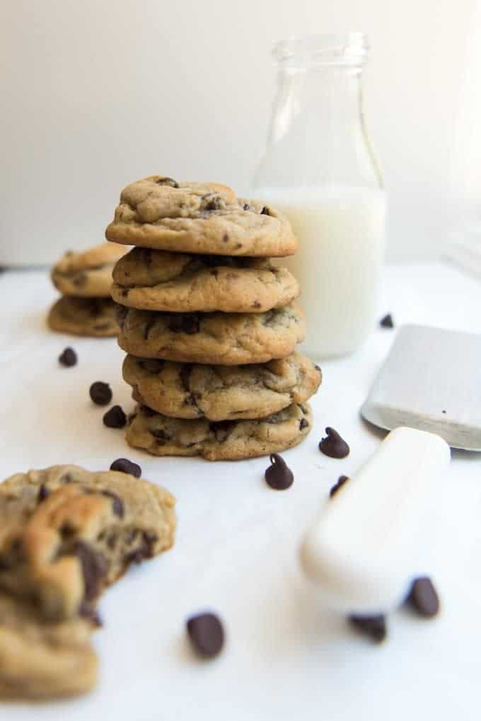 These soft & chewy chocolate chip cookies are everything you could ever want a chocolate chip cookie to be. Loaded with chocolate and absolutely amazing!