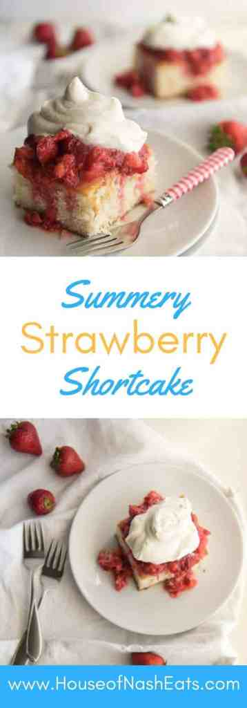This strawberry shortcake is the perfect dessert for showcasing summer's beautiful berries topped with a dollop of freshly whipped cream!