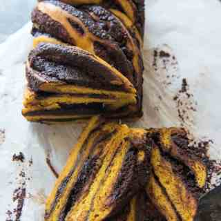 Pumpkin Chocolate Babka | #BreadBakers