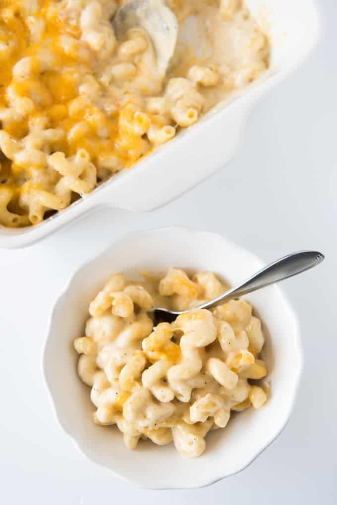 Super creamy, cheesy, and delicious, this Copycat Costco Mac and Cheese is the ultimate comfort food made with five different kinds of cheese.