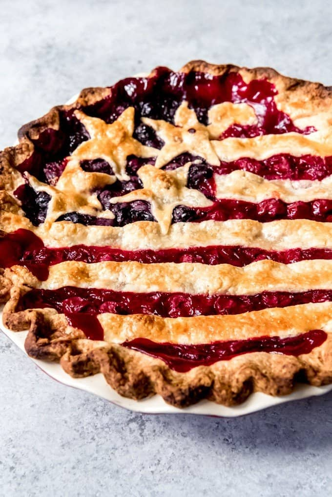 Red White and Blue Cherry Pie