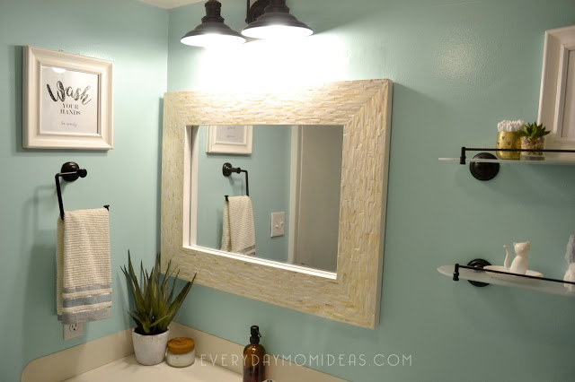 Bathroom Remodel Pearl Mirror