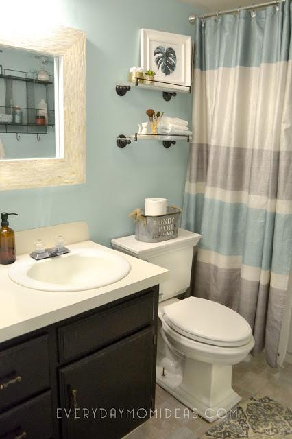 Bathroom Remodel Mint Gray