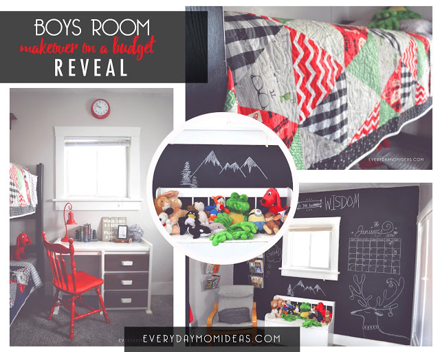 budget boys room make-over collage