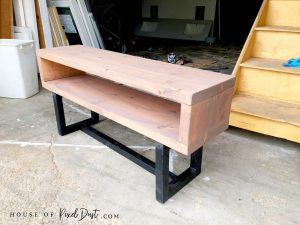 finish modern coffee table natural wood bench