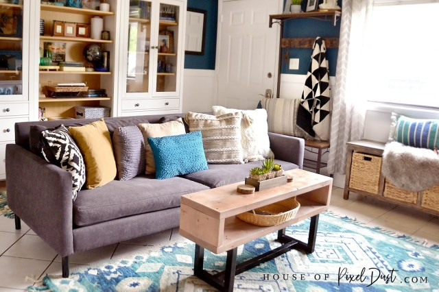 easy diy modern home decor natural wood coffee table