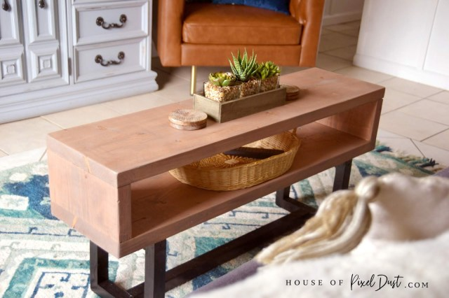 Elegant DIY modern coffee table woodworking