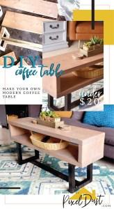 DIY wood coffee table easy tutorial