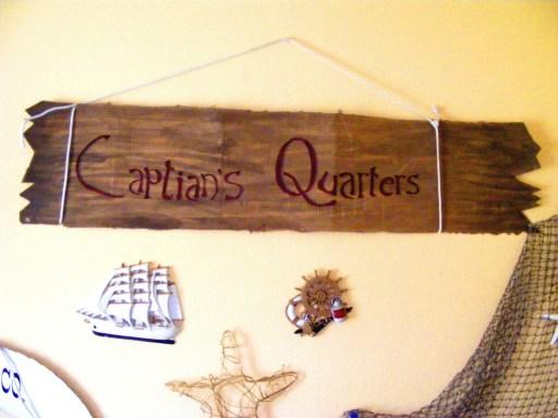 Captians Quarters diy sign