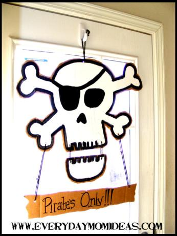 pirate door sign