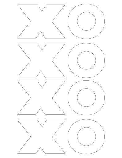 X O Printable
