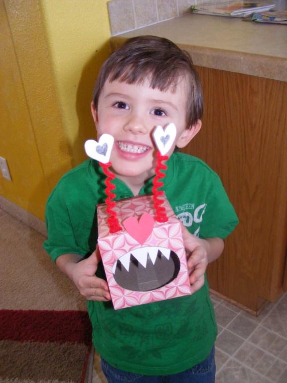 valentines monster card box