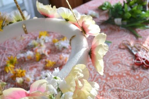 DIY Floral Baby mobile
