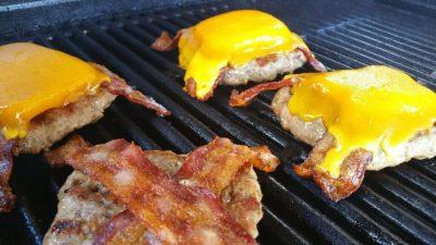 Grilling Breakfast Sausage Burgers