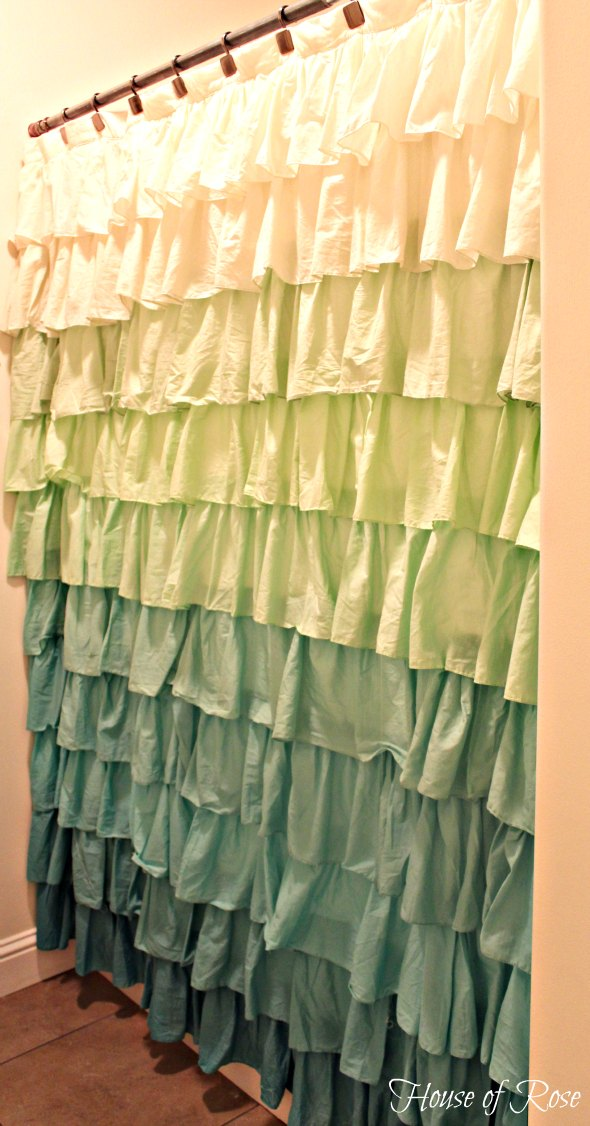 the ruffle shower curtain that stole my