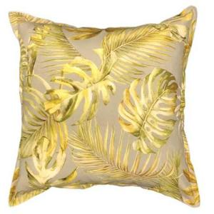 Palm leaf scatter cushion in grey