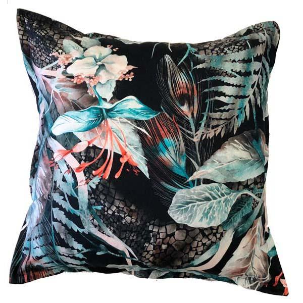 Hibuscus Scatter cushion in Turquoise