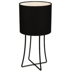 Jasper, a black wire base table lamp with black cotton drum shade