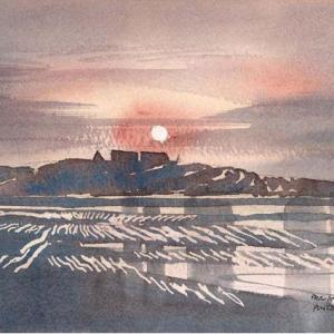 Puntjie Moon Rise Painting | Buy African Wall Art Online