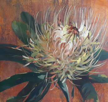 Protea Watercolour Painting