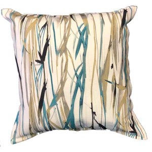 Teal Reeds scatter cushions