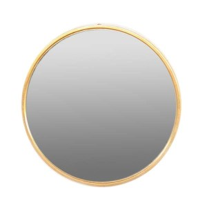 Round Gold Wide Edge Mirror