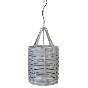 METAL IRON WOVEN HANGING LAMP