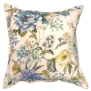 Blue Giant Flower Scatter Cushion