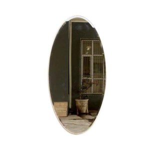 Large Oval Mirror Distressed