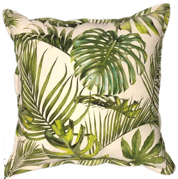 White Palm Scatter Cushion