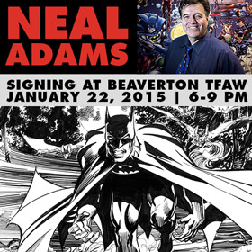 Neal Adams Signing at Beaverton TFAW 1/22/15!