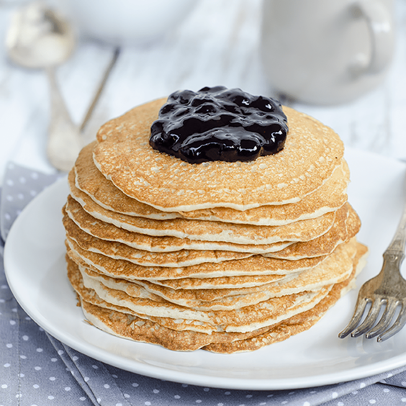 Pancakes with whipped egg whites