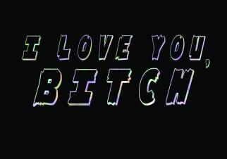 I Love You Bitch Greetings Card