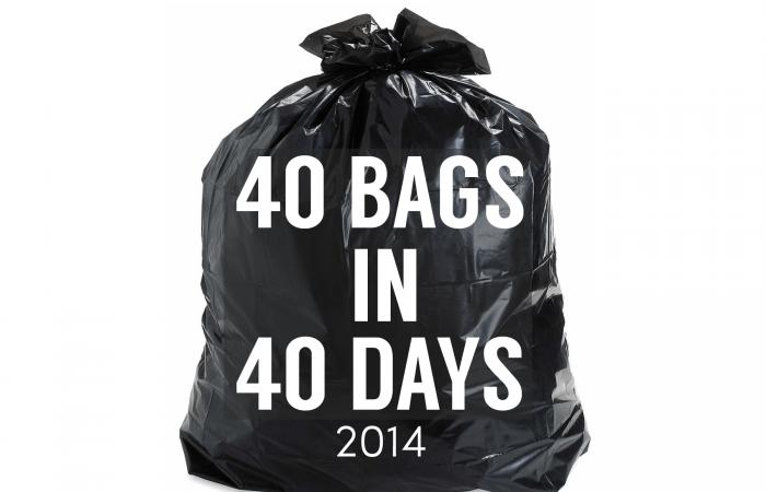 Declutter Your Life – 40 Bags in 40 Days